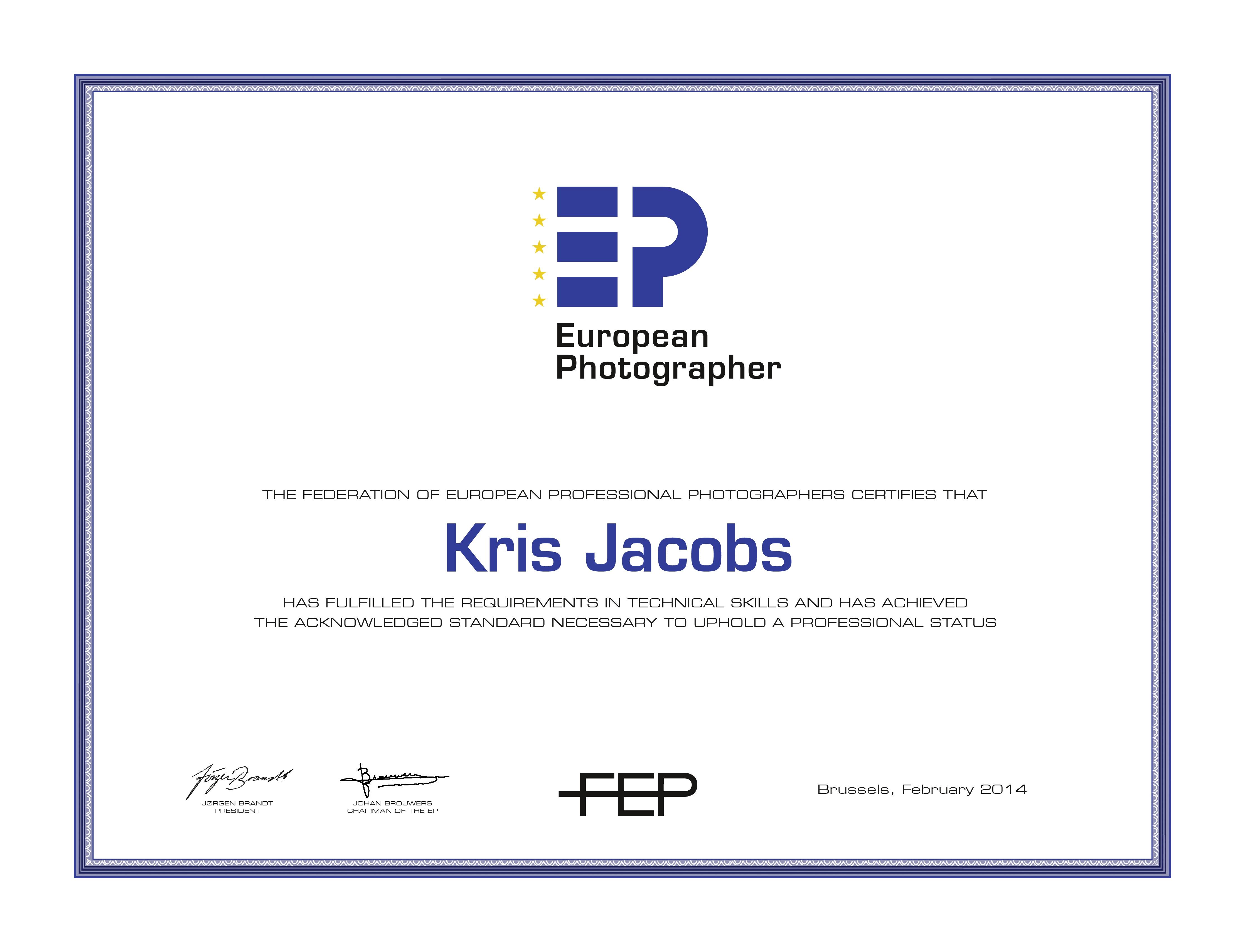 FEP Urkunden_Februar14_Kris-Jacobs